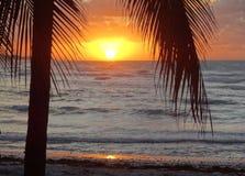 Ocaso en Cuba fotografía de archivo libre de regalías