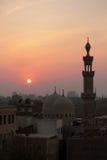 Ocaso en El Cairo. Imagen de archivo libre de regalías