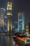 OCBC-bank i Singapore Arkivbild