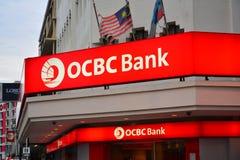 OCBC Bank Malaysia Sign in Jalan Gaya, Kota Kinabalu, Malaysia Stock Photography