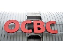 OCBC-banklogo Royaltyfri Foto