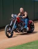 OCC Paul Senior on military motorcycle Royalty Free Stock Photos