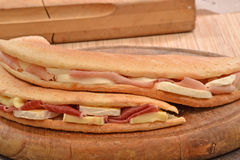 Occacia sandwich. Royalty Free Stock Images