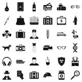 Occasion icons set, simple style. Occasion icons set. Simple style of 36 occasion vector icons for web isolated on white background Vector Illustration