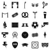 Occasion icons set, simple style Royalty Free Stock Image