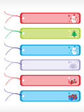 Occasional vector gift tags set 2 Stock Images