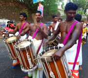 Occation de festival de temple de melam de Chenda @ photographie stock libre de droits