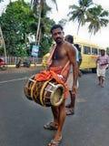 Occation de festival de temple de melam de Chenda @ Image libre de droits