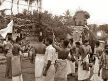 Occation de festival de temple de melam de Chenda @ photo libre de droits