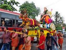 Occation di festival del tempio del melam di Chenda @ Immagine Stock