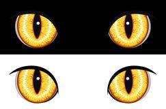 Occhi animali diabolici Fotografia Stock Libera da Diritti