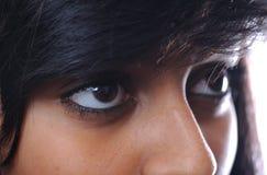 Occhi asiatici della ragazza Fotografie Stock