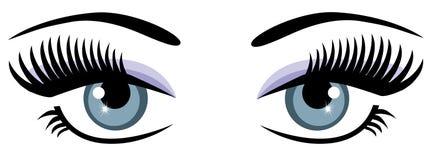 Occhi azzurri Fotografia Stock