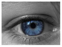 Occhi azzurri Fotografia Stock Libera da Diritti