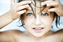 Occhi azzurri spalancati Fotografia Stock Libera da Diritti