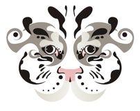 Occhi bianchi della tigre Fotografie Stock