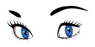 Occhi blu della donna illustrazione vettoriale