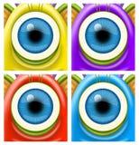 Occhi dei mostri Fotografia Stock