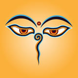Occhi del Buddha Fotografie Stock Libere da Diritti