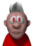 Occhi del dollaro Fotografia Stock Libera da Diritti