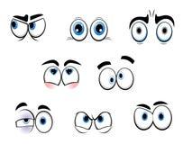 Occhi del fumetto Immagine Stock