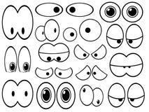 Occhi del fumetto Fotografia Stock