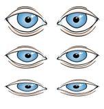 Occhi del fumetto royalty illustrazione gratis