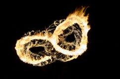 Occhi del fuoco del gufo Immagini Stock Libere da Diritti