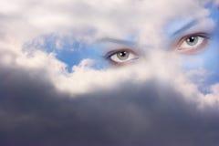 Occhi dell'angelo di guardiano Fotografia Stock Libera da Diritti