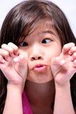 Occhi dell'incrocio della bambina Fotografie Stock Libere da Diritti