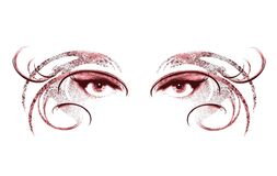 Occhi della mascherina da portare 2 della donna Immagini Stock