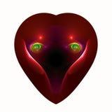 Occhi di amore in un cuore Fotografia Stock