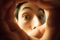 Occhi di curiosità Fotografia Stock
