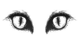 Occhi di gatto disegnati a mano Vettore eps10 Fotografie Stock Libere da Diritti