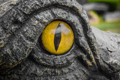 Occhi di giallo dei coccodrilli Fotografia Stock Libera da Diritti