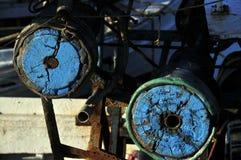 Occhi di legno blu Fotografie Stock Libere da Diritti
