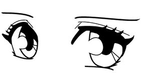 Occhi di Manga Fotografia Stock Libera da Diritti