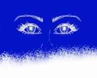 Occhi di natale Fotografia Stock