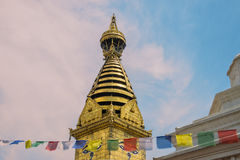 Occhi di saggezza di Buddha in Swayambhunath Stupa Immagine Stock Libera da Diritti