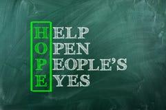 Occhi di speranza immagini stock