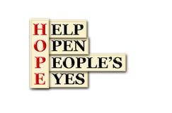 Occhi di speranza Fotografia Stock