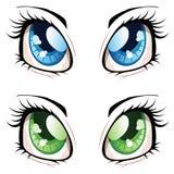 Occhi di stile di anime Fotografia Stock Libera da Diritti