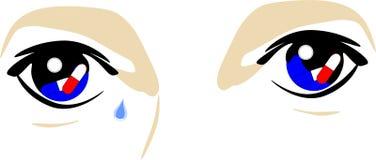 Occhi di un tossicodipendente Fotografia Stock