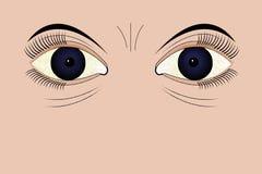 Occhi faticosi fotografia stock
