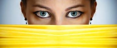 Occhi femminili Immagini Stock