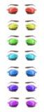 Occhi femminili multicolori. Primo piano. Fotografia Stock