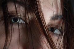 Occhi fissati della femmina Fotografia Stock Libera da Diritti