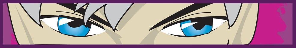 Occhi giapponesi di animazione Fotografie Stock Libere da Diritti
