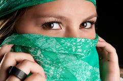 Occhi misteriosi Fotografie Stock Libere da Diritti