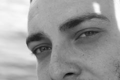 Occhi nell'uomo del fronte Immagini Stock Libere da Diritti
